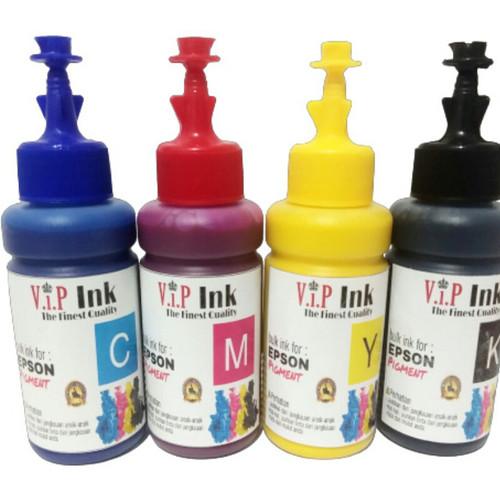 Foto Produk Paket Tinta Epson Pigment 4 Botol Vip ink Grade A Korea Quality dari Mitraink