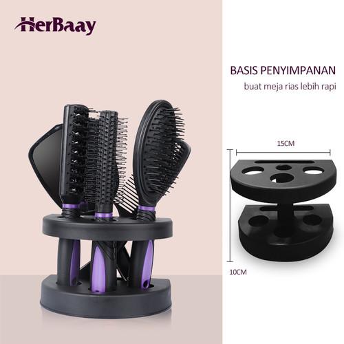 Herbaay Sisir 5-piece set with base C5PH-4001 Purple - Hitam-Ungu 6