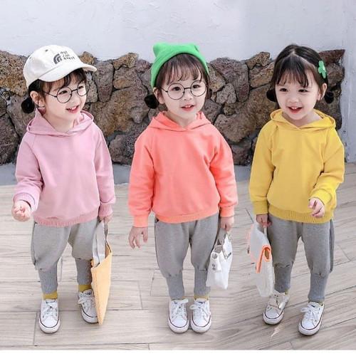 Foto Produk IMPORTED COCO BUN HOODIE SET baju anak cewe perlengkapan babeebabyshop - yellow, 1-2tahun dari babeebabyshop2