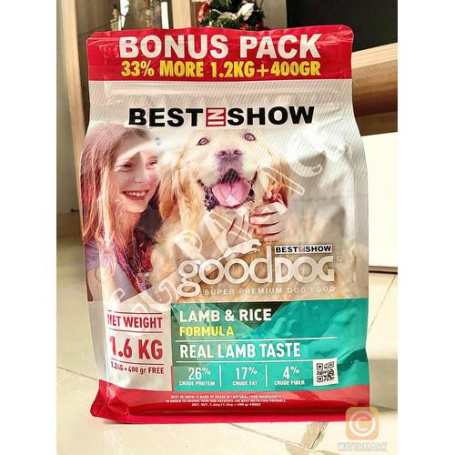 Foto Produk Best In Show Good Dog Lamb & Rice 1,6kg - Makanan Anjing dari GG Palace