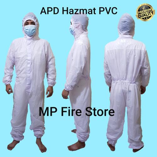 Foto Produk Baju APD Hazmat PVC Medis Waterproof Murah Anti Air Virus Tebal - Baju APD Only dari MP Fire Store
