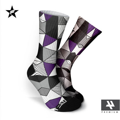 Foto Produk Kaos Kaki Casual - Triangle Spot Violet - Starfight indonesia dari STARFIGHT INDONESIA