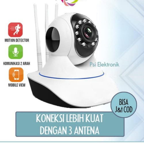 Foto Produk IP Cam CCTV Wireless Wifi 3 antena home security APP V380 dari studio cctv