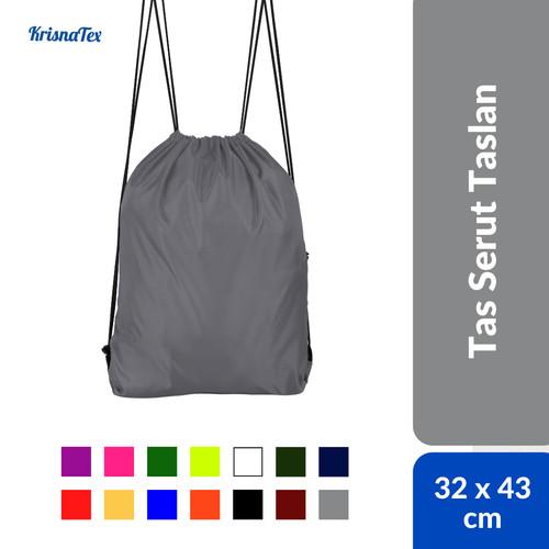 Foto Produk Tas Serut Drawstring Bag Anti Air ( Waterproof ) Gym bag - Putih dari KrisnaTex