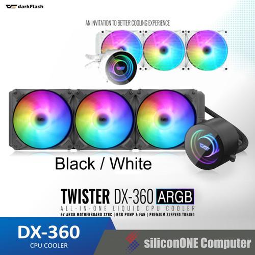 Foto Produk AIGO Twister DX360 ARGB DX-360 Liquid AIO Black / White Darkflash dari silicon ONE Computer