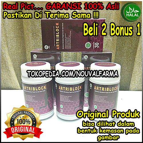Foto Produk Artriblock Asli Herbal Original Obat Nyeri Sendi & Tulang Resmi BPOM dari NouvalFarma