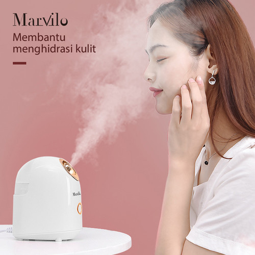 Marvilo Face Steamer Pelembab Wajah Uap Hangat Putih 3