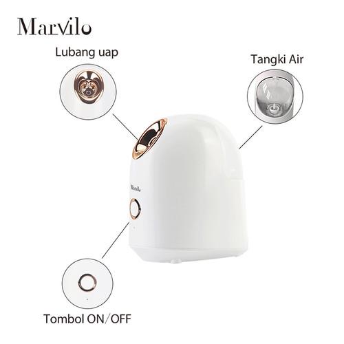 Marvilo Face Steamer Pelembab Wajah Uap Hangat Putih 5