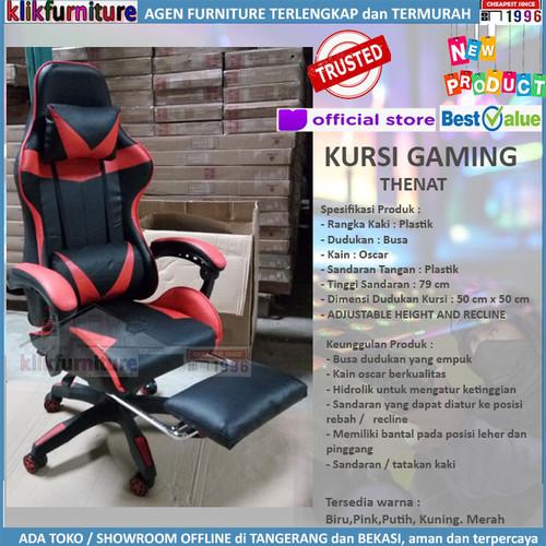Foto Produk Kursi Gaming Recline / Gaming Chair / Kursi Game THENAT dari klikfurniture