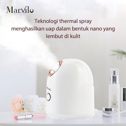 Marvilo Face Steamer Pelembab Wajah Uap Hangat Putih 2