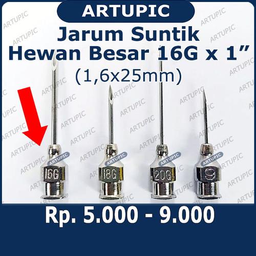 Foto Produk Jarum Suntik Hewan Besar 16G x 1 inch Vaksin Ternak Sapi Babi Needle dari ArtupicPeralatanPeternak