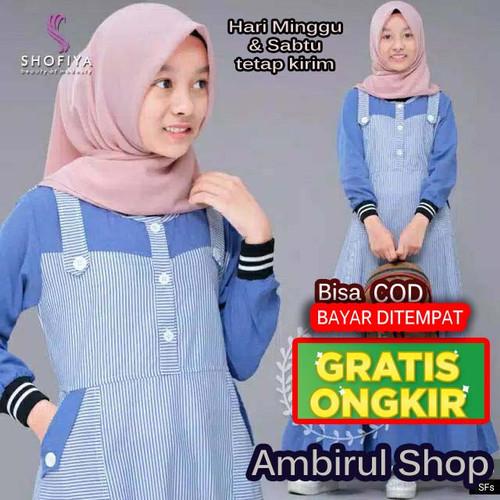 Jual Gamis Anak Usia 10 12 Tahun Baju Muslim Anak Perempuan Syari Dress Biru M Kab Cirebon Ambirul Tokopedia