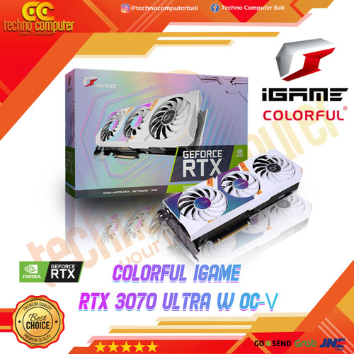 Foto Produk COLORFUL iGame GeForce RTX 3070 Ultra W OC-V 8GB GDDR6 White dari Techno Computer Bali