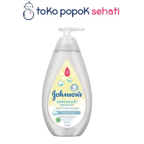 Foto Produk JOHNSON COTTONTOUCH TOP TO TOE BODY WASH 500ML dari TOKO POPOK SEHATI