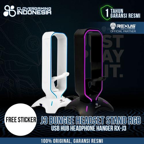 Foto Produk Rexus Headset Stand Bungee J3 RGB with USB Hub - Putih dari Clover Gaming Indonesia