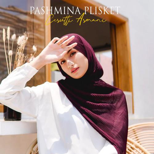 Jual Pashmina Plisket Shawl Ceruty Babydoll Armani Premium Maroon Kab Bandung Qanita Collection92 Tokopedia