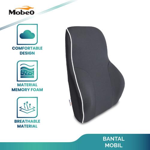 Foto Produk Mobeo Bantal Mobil Penyangga Punggung / Leher Polyester Car Pillow - Punggung dari Mobeo Official Store