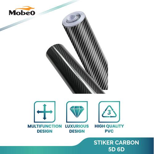 Foto Produk Mobeo Sticker Carbon Fiber 5D / 6D High Quality PVC berbagai ukuran - 5D 20 x 152 cm dari Mobeo Official Store