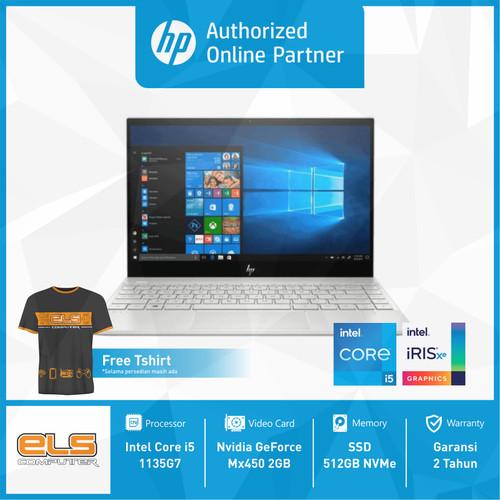 Foto Produk HP ENVY 13-ba1030TX - Silver [i5 1135G7-8GB-512GB-MX450-W10-OHS] dari ELS Computer