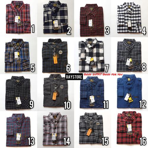 Foto Produk grosir baju kemeja flanel casual pria / kemeja cowok min 6 pcs - Random, L dari RayStore
