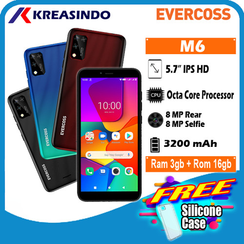 Foto Produk Evercoss M6 3/16 Ram 3gb Internal 16gb Garansi Resmi - Hitam dari Kreasindo Online