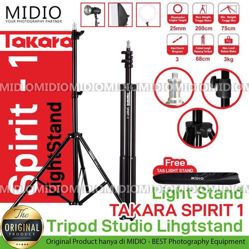 Foto Produk Light Stand TAKARA SPIRIT 1 TRIPOD STUDIO LIGHTSTAND dari Midio