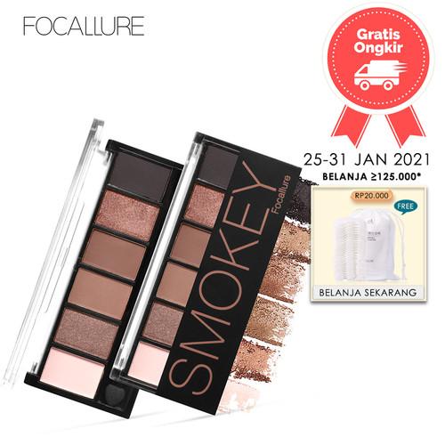 Foto Produk FOCALLURE 6 Colors Glamorous Smokey Eyeshadow Palette FA06 - FA06-01 dari beauty entity