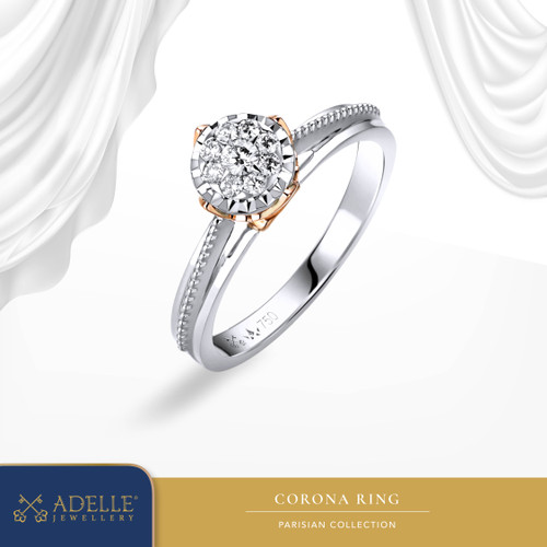 Foto Produk Corona Diamond Ladies Ring - Cincin Berlian - Adelle Jewellery - Twotone, 5-15 dari Adelle Jewellery