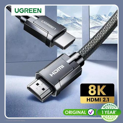 Foto Produk Ugreen 8K ULTRA HD HDMI 2.1 Cable Round Braided 2M Gray -70321 dari Ugreen ID