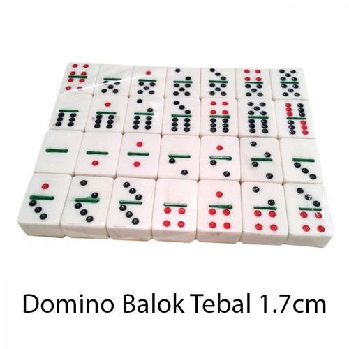 Jual Kartu Domino Balok Tebal 1 7cm Gaple Qq Mahjong Dt 28 Jakarta Barat Hello Fancy Tokopedia