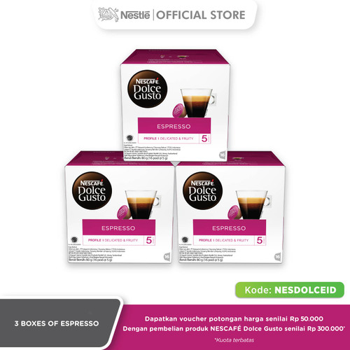 Foto Produk New Espresso 3 box (48 kapsul = 48 gelas) dari DOLCEGUSTOID