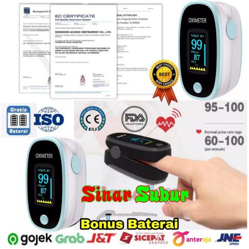 Foto Produk Oximeter Fingertip Oxymeter Pulse Pengukur Kadar Oksigen Detak Jantung dari Sinar Subur Elektronik