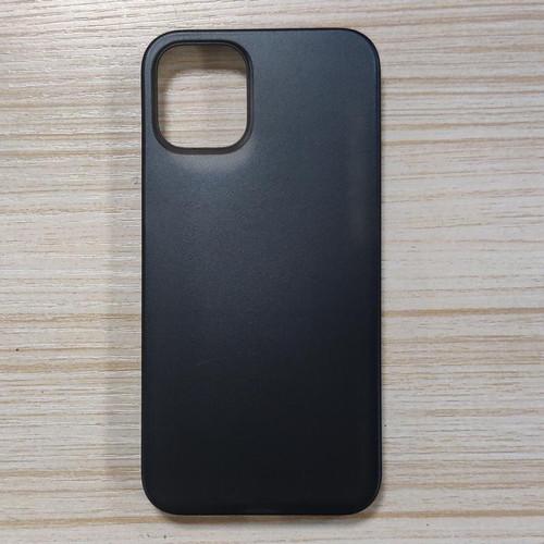 Foto Produk Ultra Thin Transparan (Semi Hard - Soft Case) iPhone 12 / Pro / Max - 12 Pro Max, Hitam dari Glitz Indonesia