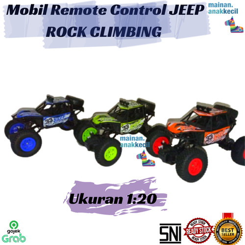 Foto Produk Mainan Mobil Remote Control RC JEEP ROCK CLIMBING CRAWLER OFFROAD 1:20 - Hijau dari mainan.anakkecil