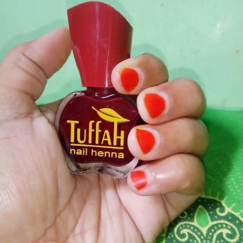 Tuffah Nail Henna Kuku Muslimah Pacar Kuku Halal Sah Untuk Sholat - Pink, 10 ml 2