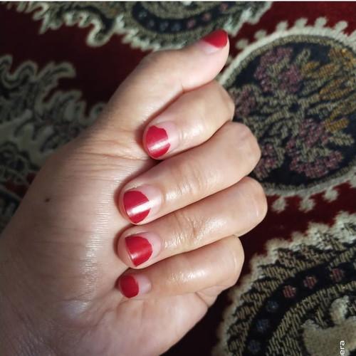 Tuffah Nail Henna Kuku Muslimah Pacar Kuku Halal Sah Untuk Sholat - Pink, 10 ml 4