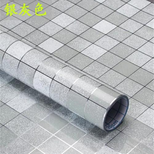 Foto Produk Wallpaper dapur anti minyak dan tahan panas - Silver dari Harapan Senja