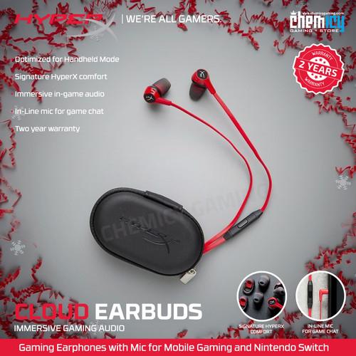 Foto Produk HyperX Cloud Earbuds In Ear Gaming Headphones with Mic dari Chemicy Gaming