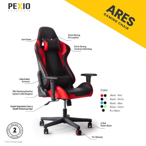 Foto Produk Kursi Gaming PEX |PEX Gaming Chair Ares Series - Merah dari PEXIO Furniture