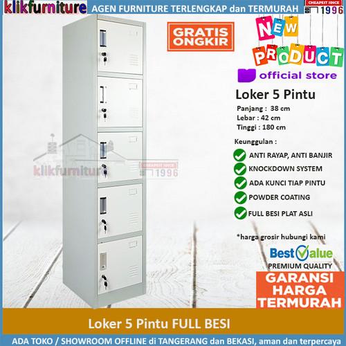 Foto Produk Lemari Loker Locker Cabinet 5 Pintu Full Besi SAPPORO KOLN 5 dari klikfurniture