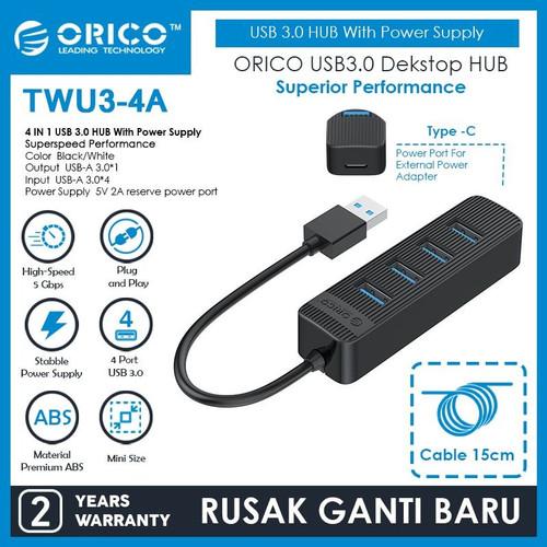 Foto Produk ORICO TWU3-4A 4 Port USB 3.0 HUB dari manekistore