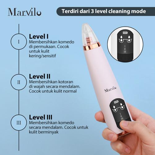 Marvilo Alat Penghisap Komedo Elektrik Blackhead Suction 4004 4