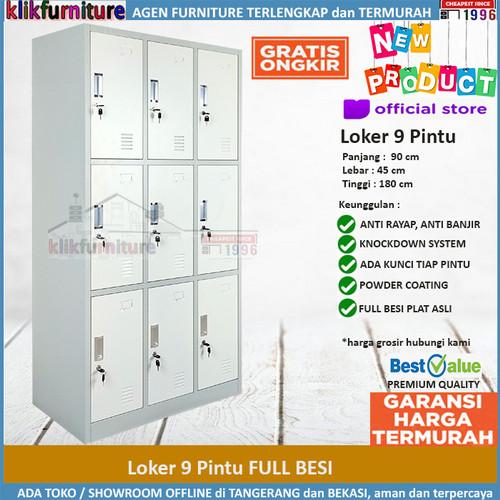 Foto Produk Lemari Loker Locker Cabinet Pintu Besi 9 Pintu SAPPORO KOLN 9 dari klikfurniture