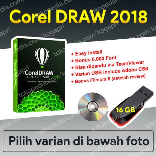 Foto Produk Corel Draw X6 X7 X8 2018 Coreldraw for Windows - DVD dari koleksi gadget pribadi