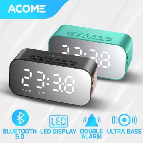 Foto Produk ACOME A5 SPEAKER BLUETOOTH 5.0 Jam Alarm LED Display Ultra Bass dari Bintang vin
