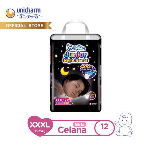 Foto Produk MamyPoko Popok Celana Junior Night Pants - XXXL 12 - Girls dari Unicharm Official Store