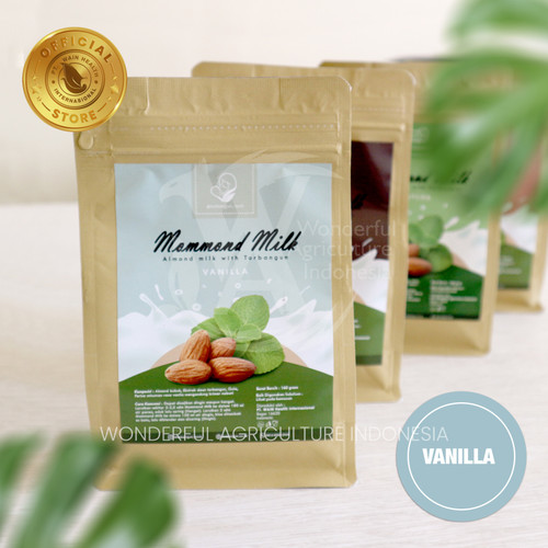 Foto Produk Mommond Milk Almond Milk with Torbangun : Pelancar ASI Rasa Kekinian - Vanilla dari WAIN Group