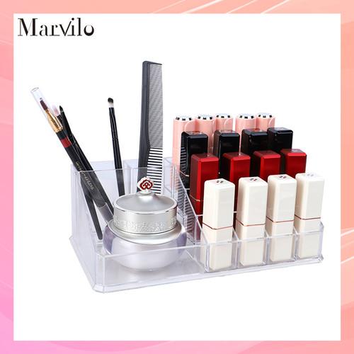 Marvilo Kotak Lipstik Organizer Lipstick Rack Transparan Rak Lipstik 1