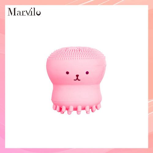 Marvilo Alat Pembersih Muka Bentuk Gurita Bahan Silikon - Merah Muda 1