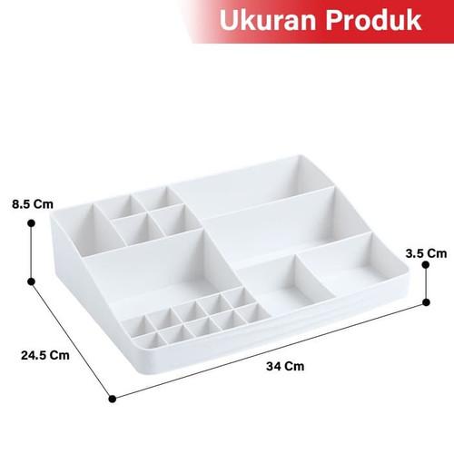 GM Bear Rak Kosmetik Mini Makeup Organizer Storage Box-Cosmetic - Merah Muda 6